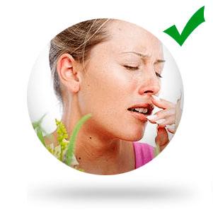 Устраняет аллергические проявления